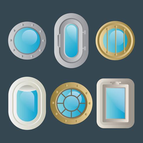【船窗向量素材】做设计用的船窗向量素材下载,有设计感的PNG素材素材下载