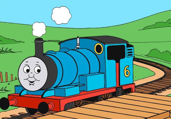 列車に乗ってトーマスfree イラスト素材ダウンロードオシャレ画像