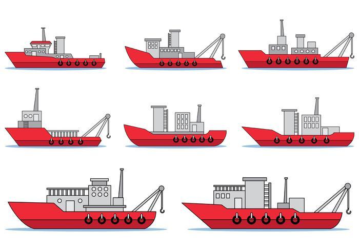拖船的矢量圖免費下載