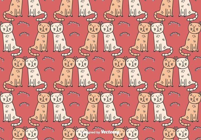 猫カップル素材 イラスト素材集ダウンロード著作権フリーポスター 背景