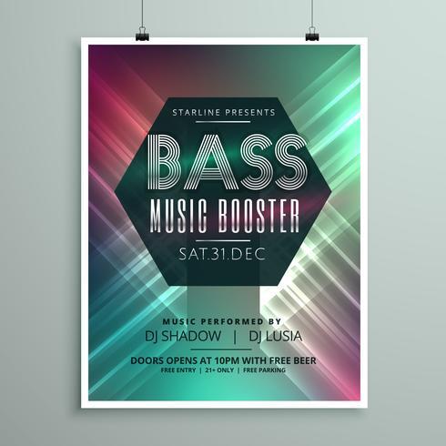 スタイリッシュな音楽パーティーイベントフライヤーパンフレットテンプレートパターン無料ダウンロード