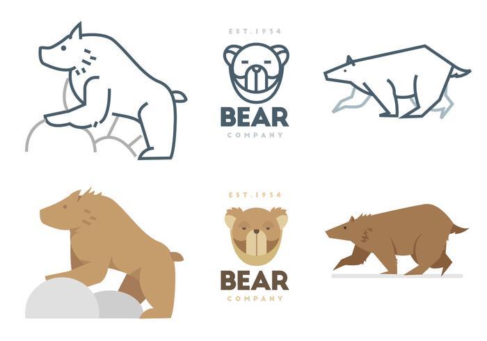 熊矢量圖形素材下載