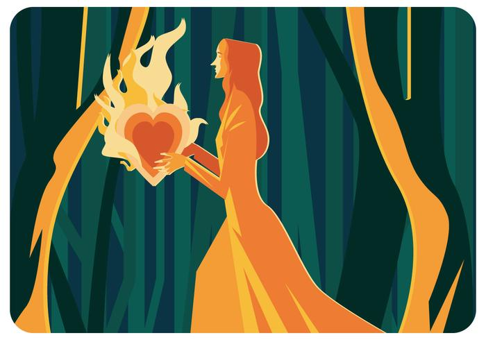 【文摘燃烧的心向量插图】做设计用的文摘燃烧的心向量插图下载,大器的壁纸下载