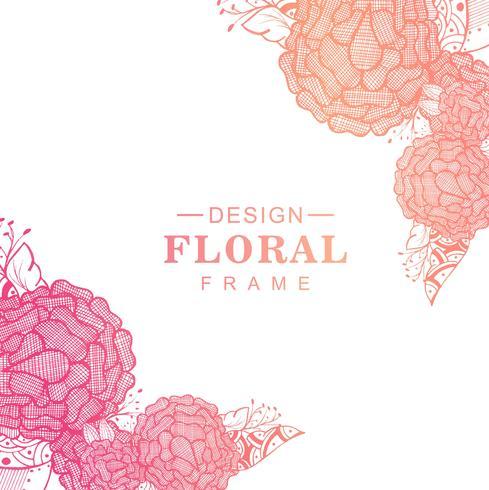 美しいカラフルな芸術的な創造的な花のデザインイラスト 素材free