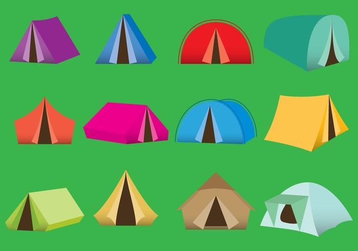 キャンピングテントパターン無料