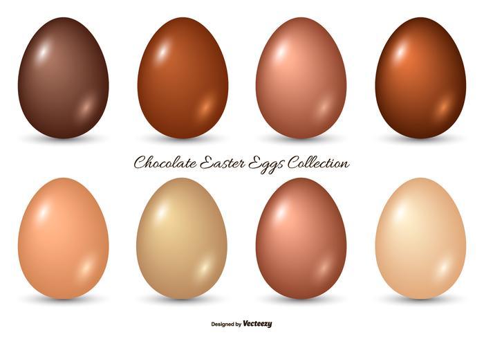 チョコレートイースターエッグコレクションパターン素材無料ダウンロード