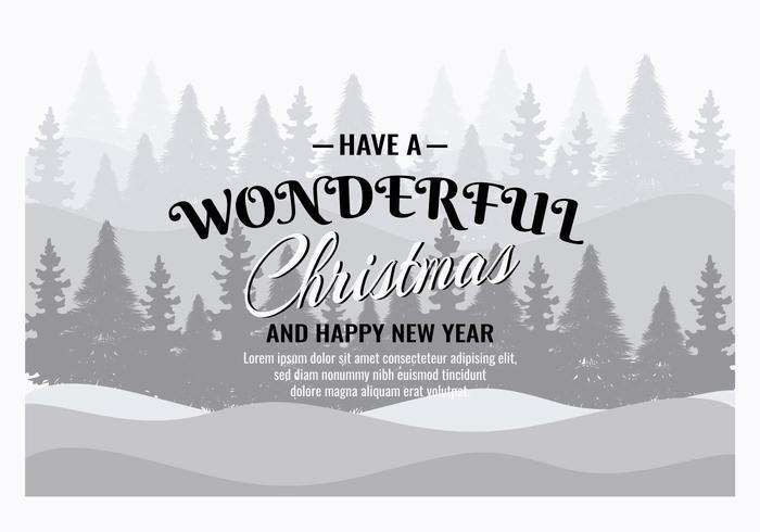タイポグラフィとクリスマス背景 素材 シンプル無料ダウンロード