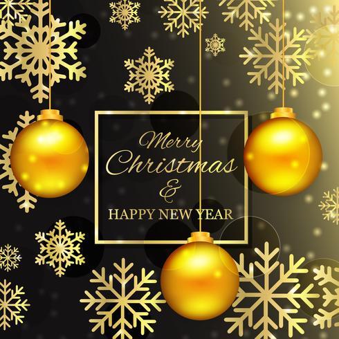 黄金のボールとクリスマスフリー 背景無料ダウンロードウェブデザイン