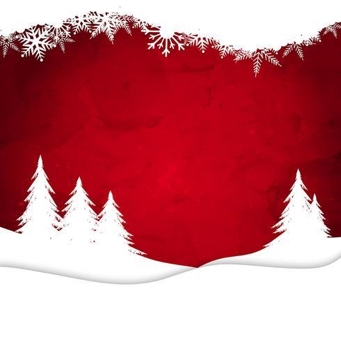 水彩のクリスマス風景パターン素材ダウンロード