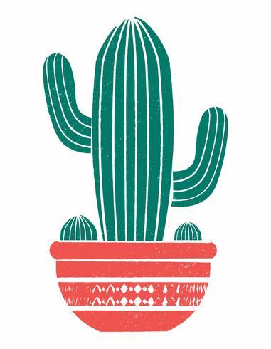 リノカットスタイルの鉢植えのサボテンがきれいでシンプル無料