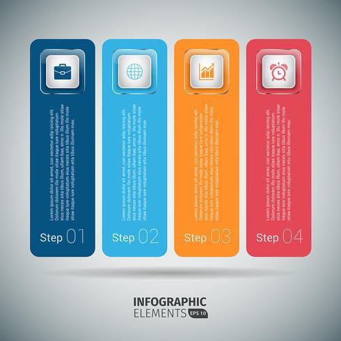 カラフルなステップバイステップのインフォグラフィックテンプレートパターンダウンロード