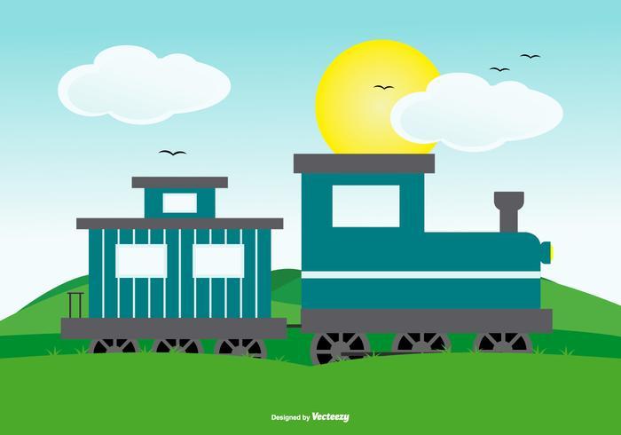 電車でかわいい風景シーン写真 イラスト素材ダウンロード綺麗な素材