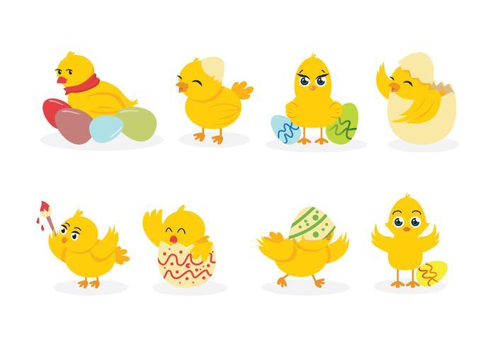 復活節小雞向量圖下載,樣式下載