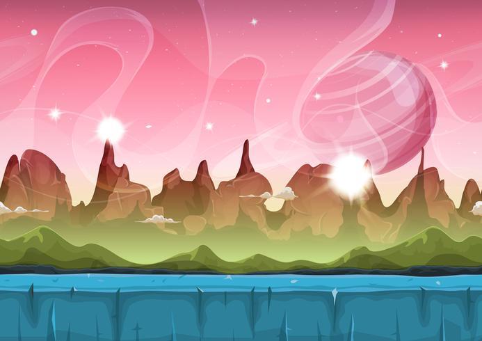 ゲームのための妖精サイファイエイリアン風景イラスト 無料素材無料