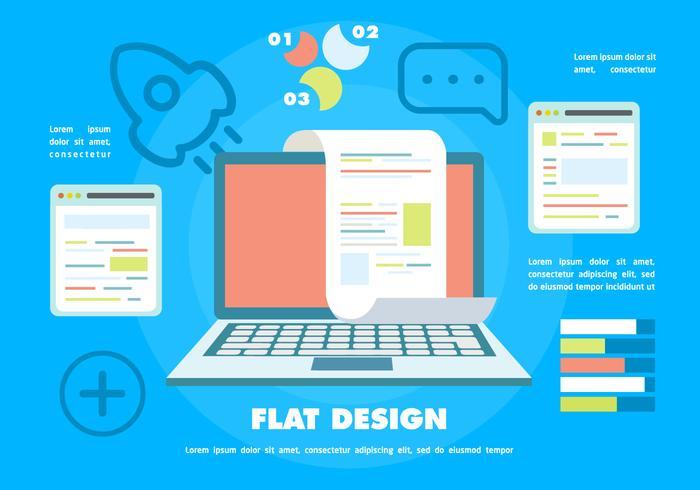 平面タッチスクリーンノートブックによるデジタルマーケティング素材 画像無料
