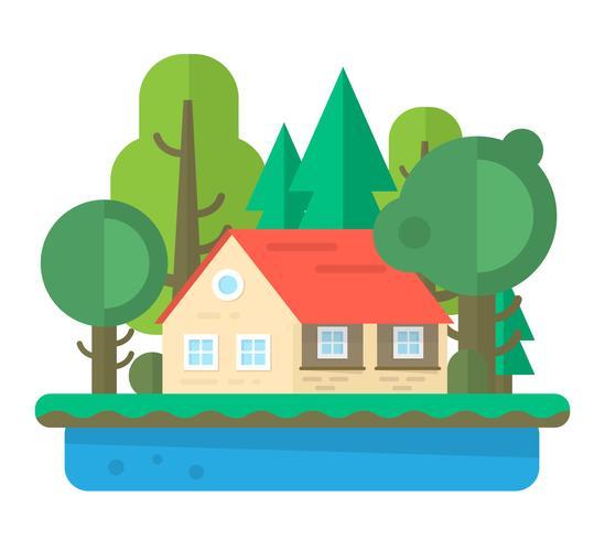 平面家の風景写真 イラスト素材無料ダウンロード製図用背景 素材