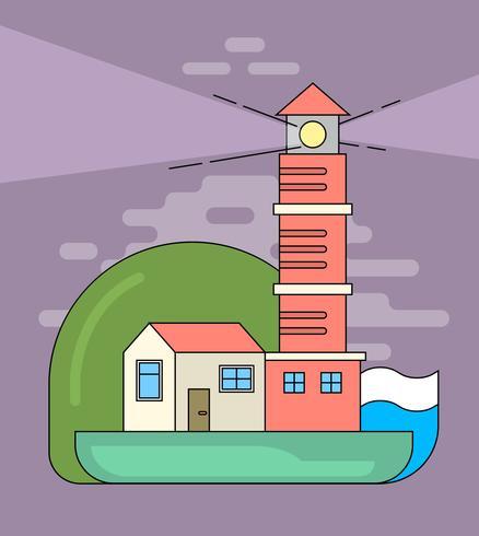 平面灯台パターン素材無料ダウンロード
