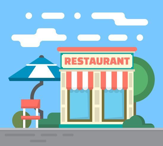 平面レストラン写真 イラスト素材無料ダウンロード海外精巧なイラスト
