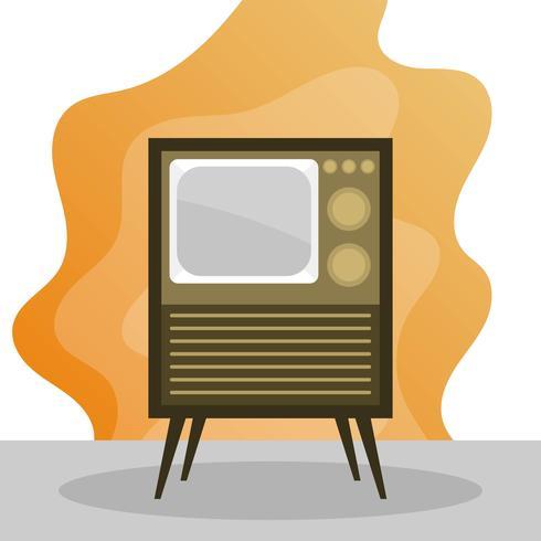 漸變復古電視矢量圖形素材下載,PNG素材下載