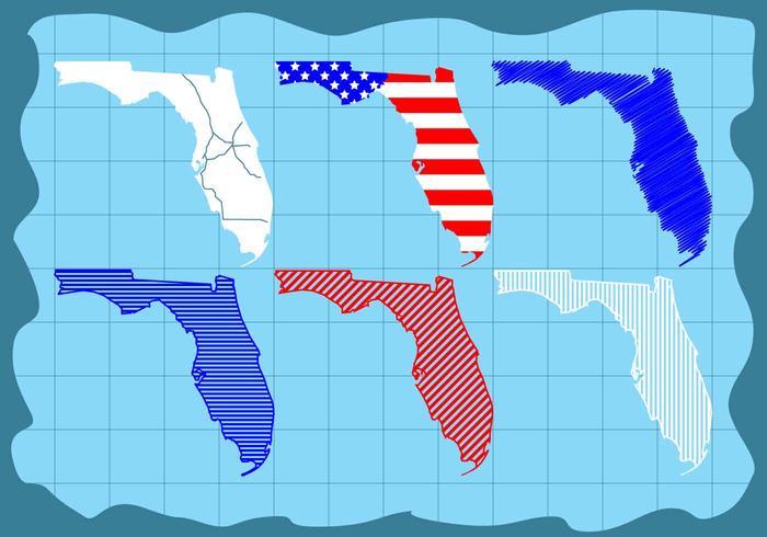 美麗佛羅里達地圖向量圖片下載