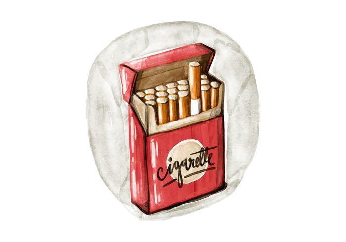 タバコの水彩画像 イラスト素材無料ダウンロード