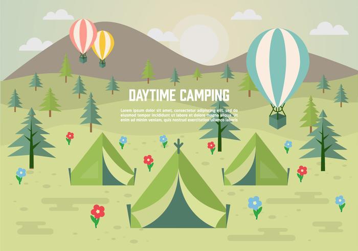 昼間のキャンプアイコン 画像無料