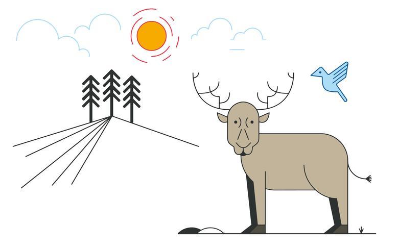 鹿パターン無料