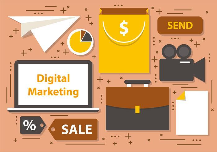 デジタルマーケティング事業イラスト 写真無料ダウンロード