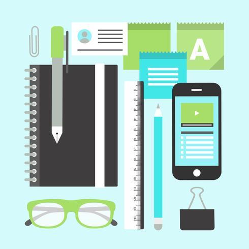 平面デジタルオフィスの要素を設計するパターン無料