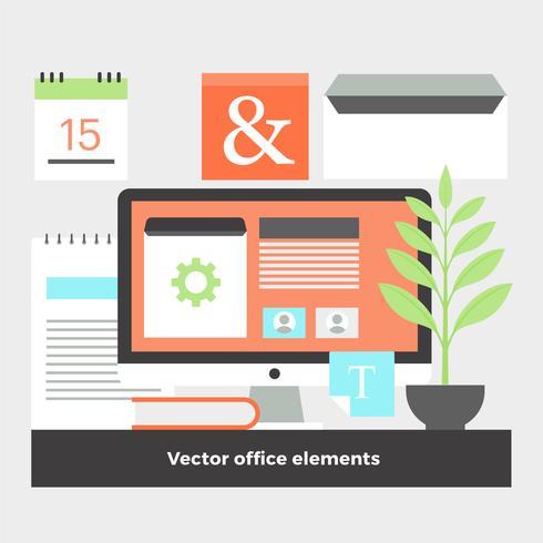 平面デジタルオフィスの要素を設計するパターン素材無料ダウンロード