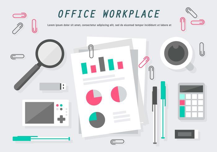 平面オフィスワークプレース素材 画像素材集ダウンロード