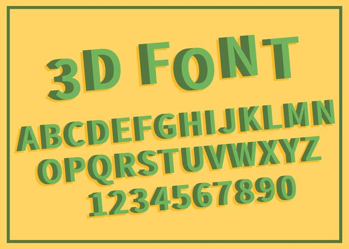 緑の3フォントイラスト acダウンロード