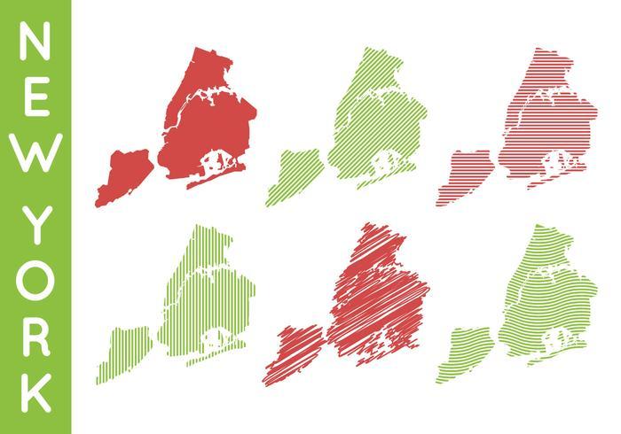 紐約地圖向量圖檔下載,線條圖下載