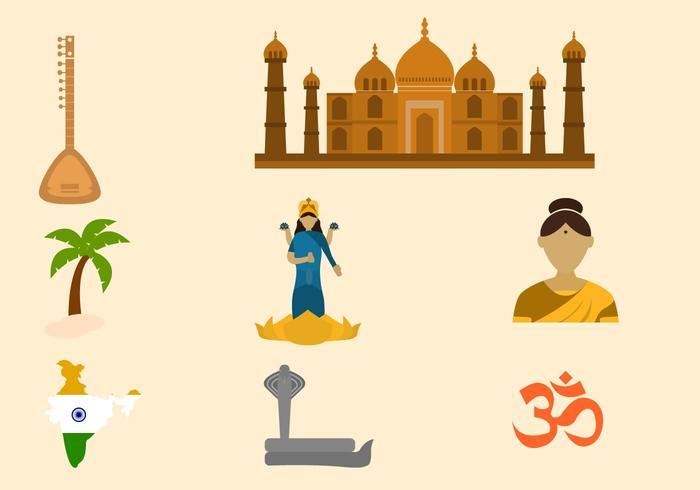 【印度集合向量插图】完整的印度集合向量插图下载,创作感的矢量图素材免费下载