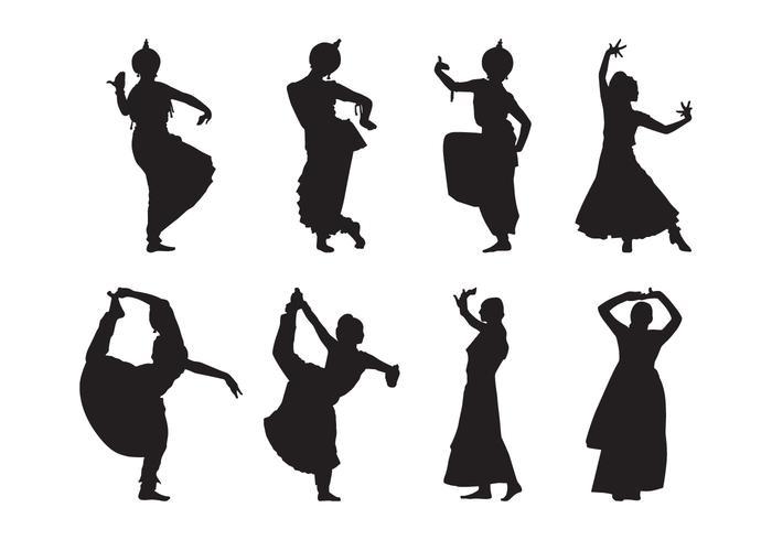 【印度舞蹈的剪影矢量图案】美工用的印度舞蹈的剪影矢量图案下载,推荐的图例素材包下载