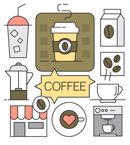 コーヒーline アイコン素材無料ダウンロード専門的なイラスト かわいい