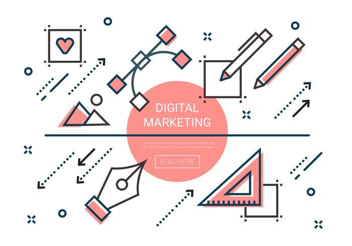 デジタルマーケティング要素パターン無料ダウンロード