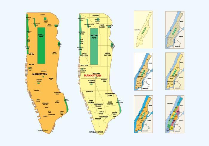 曼哈頓地圖圖示下載