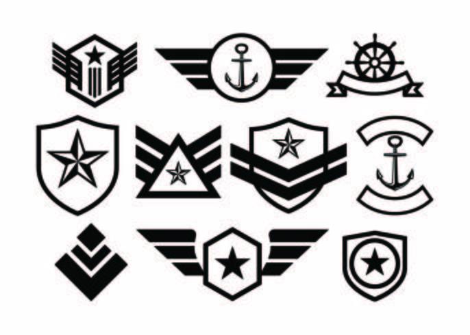【军事徽章收集矢量图片】创作用的军事徽章收集矢量图片下载,高质量的图片素材免费下载