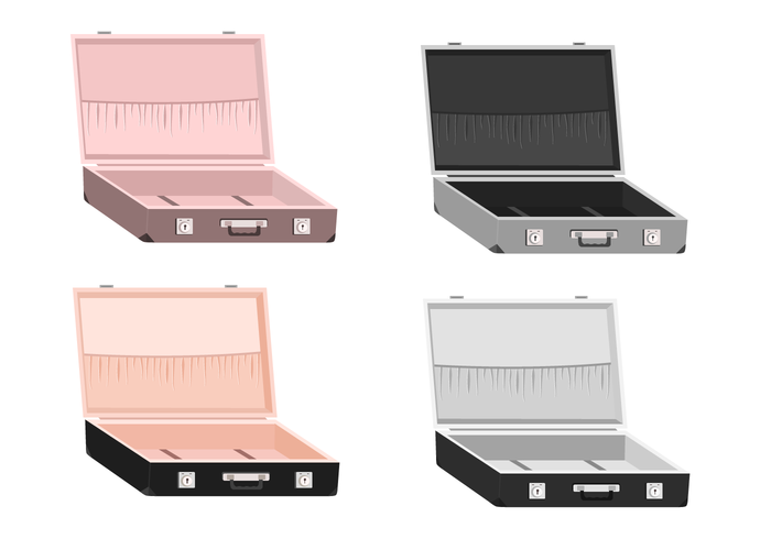 オープンスーツケースパターン素材無料ダウンロード