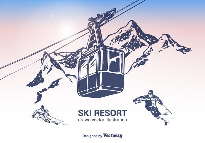 滑雪勝地圖片素材下載,透明背景下載