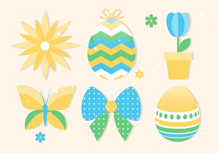 春のハッピーイースターイラストレーター無料イラスト用背景 パターン