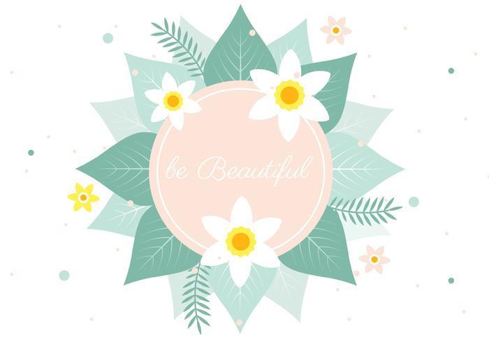 春の花の挨拶ベクター材料ダウンロード ベクターパターン イラスト無料