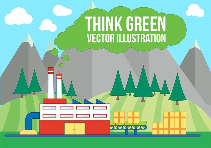 グリーンと考えるベクター素材素材ダウンロード