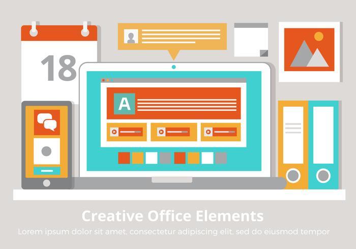 クリエイティブオフィスの要素パターン無料