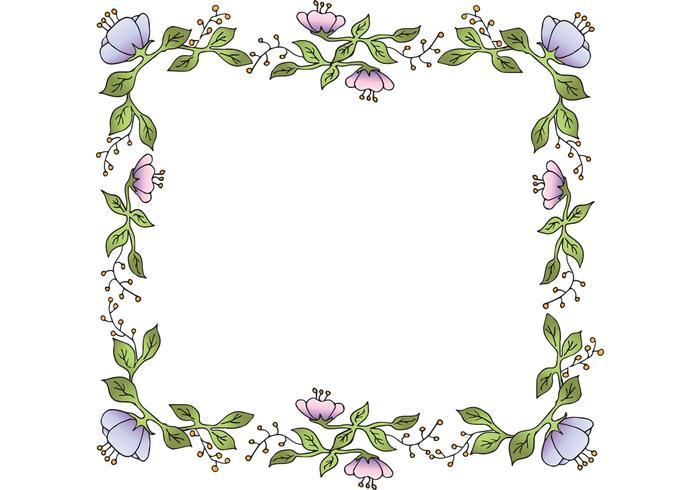 花框架矢量插畫素材下載