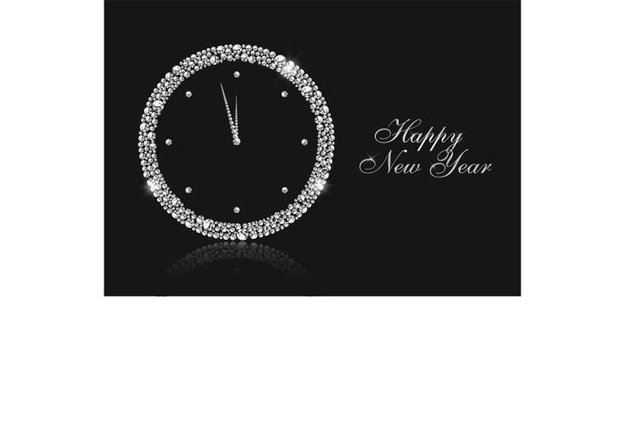 新年の時計ベクター素材無料ダウンロード