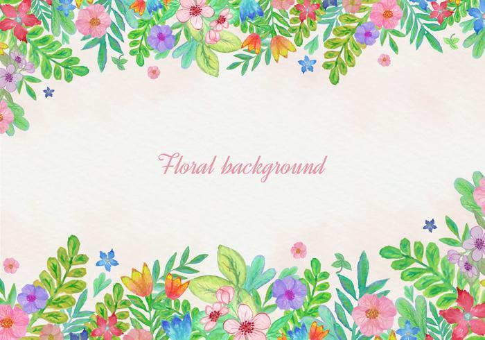 水彩花カード素材 イラスト無料photoshop用イラスト無料ダウンロード