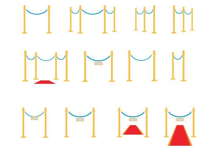 天鵝絨繩子矢量圖片素材下載