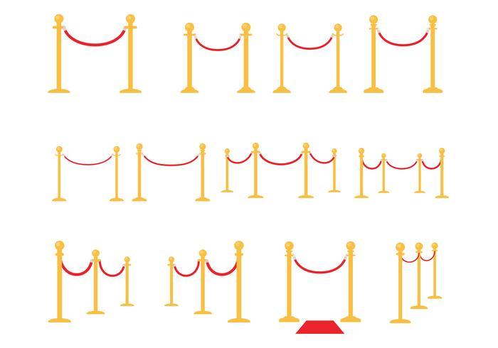 天鵝絨繩子向量圖檔素材下載